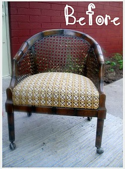swing from old chair upcycle 1