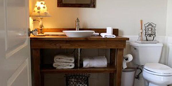 console table bath vanity redo vain looks guest antique bathroom sewing