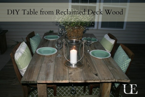 Outdoor Dining Table Ideas this new deck accessed from the dining room was built with fir planks 4 How To Build A Rustic Outdoor Dining Table
