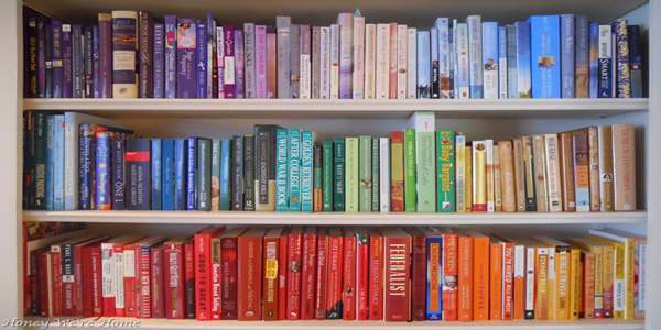 Remodelaholic   Decorating With Colored Books: Guest Project