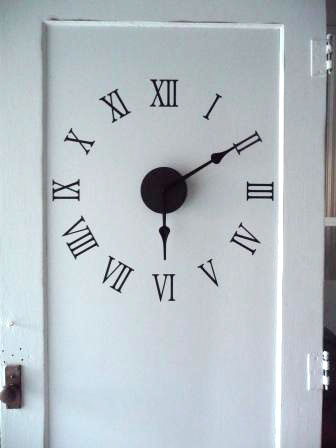 repurposed door clock 5