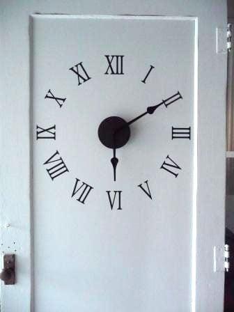 repurposed door clock 5