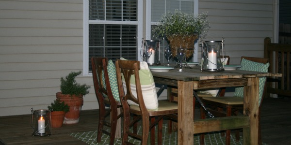 build a rustic outdoor dining table from reclaimed wood