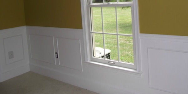 Remodelaholic Simple Picture Frame Wainscoting Guest