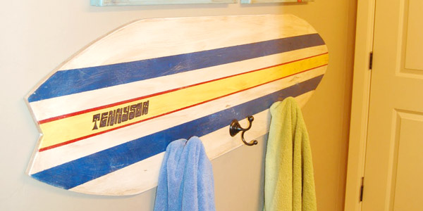 Remodelaholic | Surfboard Decor, Perfect for a Beach House!