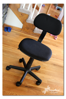 HOw to reuphoster and office chair before and after (4)
