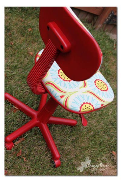 HOw to reuphoster and office chair before and after (7)