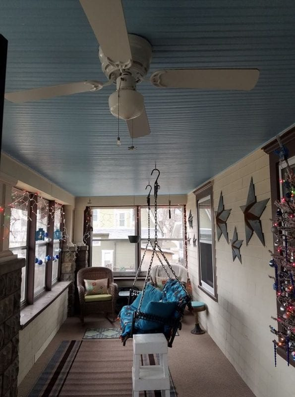 Haint Blue Porch Ceiling, Reader Brag Post Featured On @Remodelaholic