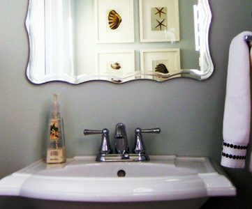 Half Bath Before and After