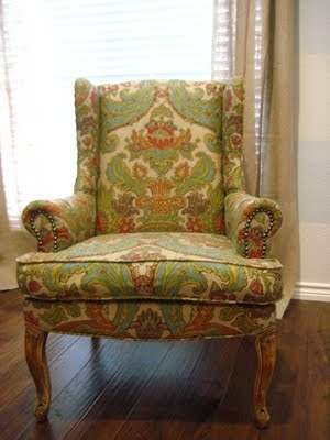 wingback chair reuphostered
