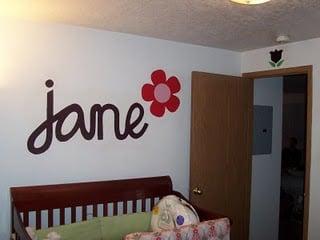 custom nursery wall feature