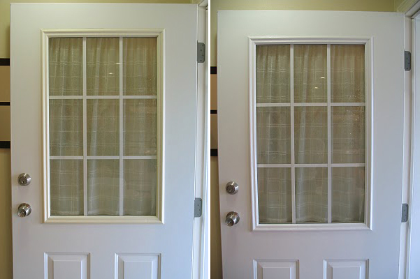 Remodelaholic Spray Painted Window Trim On Exterior Door