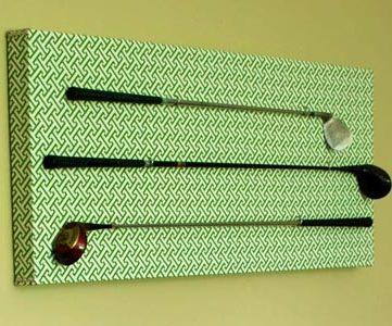 DIY Golf Club Art Display Project; 33 Shades of Green