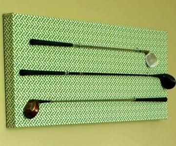 DIY Golf Club Art Display Project; 33 Shades of Green
