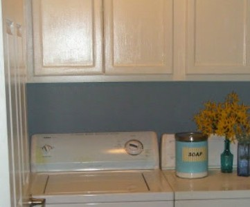 laundry room oak cabinet upgrade