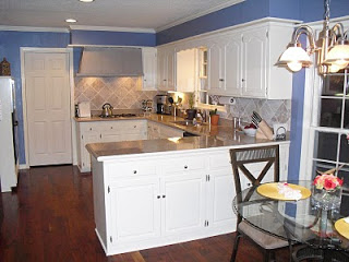 Remodelaholic Kitchen Remodel With White Cabinets And Blue Walls