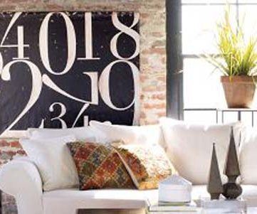 Pottery Barn Inspired Painted Number Canvas Tutorial