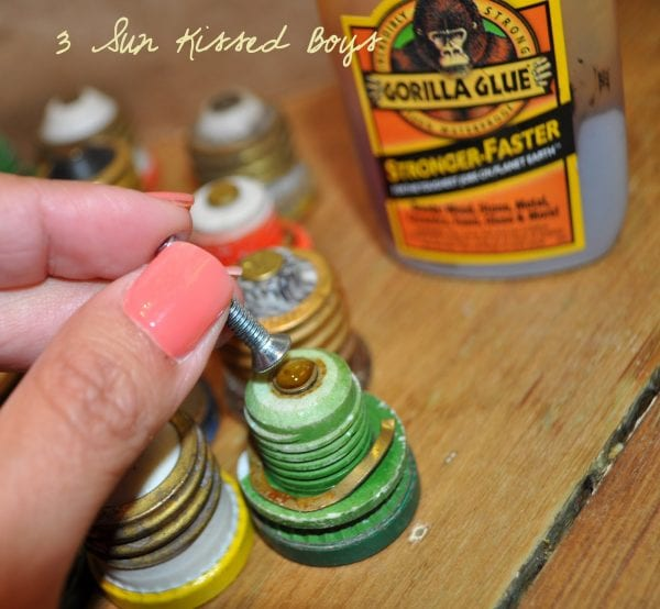 5 Tutorial for using old fuses as kitchen hardware by 3 Sunkissed Boys featured on @Remodelaholic