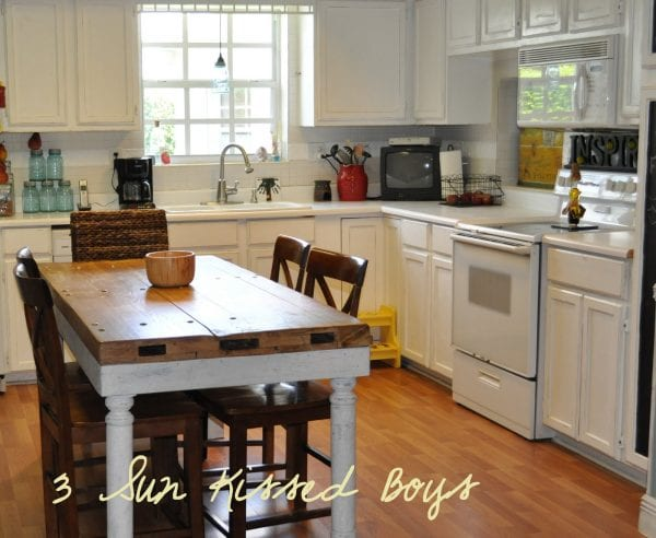7 One color kitchenby 3 Sunkissed Boys featured on @Remodelaholic before and after