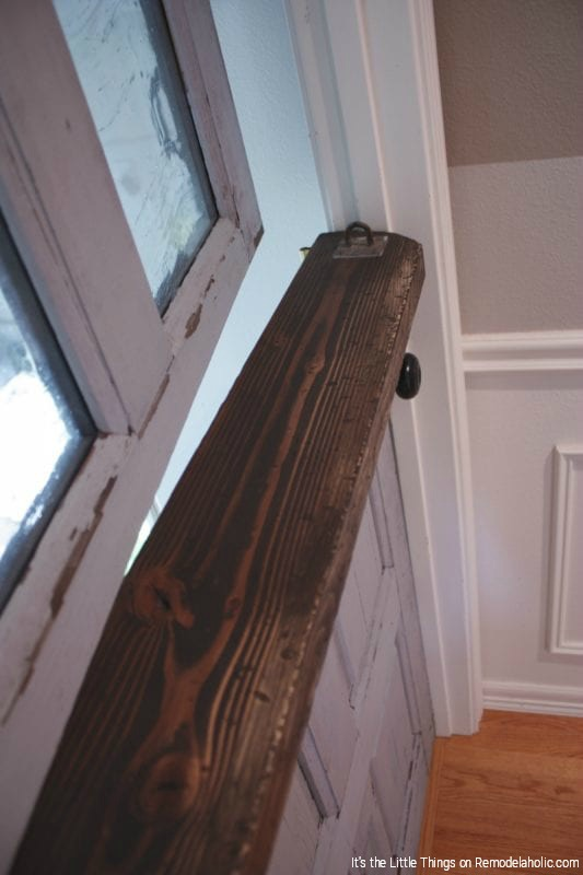 Dutch Door With Artisan Glass Panels DIY By Its The Little Things Featured On @Remodelaholic 533x800