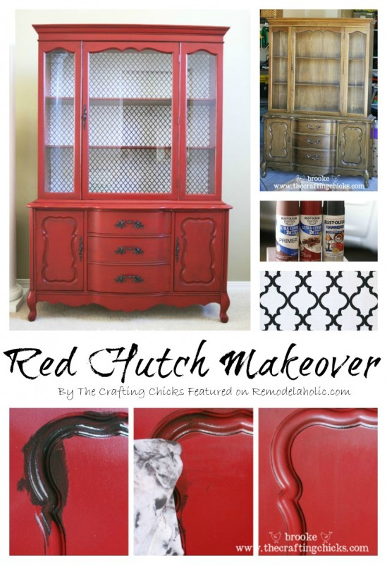 Hutch Makeover step by step2