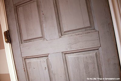 Junked Solid Wood Door Transformed Into Dutch Door By Its The Little Things Featured On @Remodelaholic