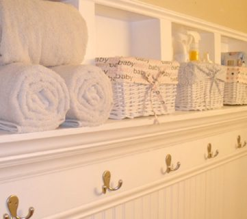 Creating Beautiful Storage Space Within Bathroom Walls