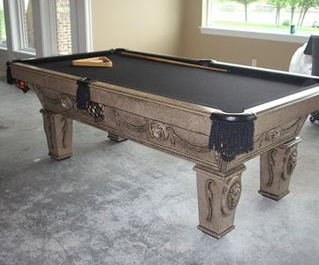 Updated Pool Table Makeover