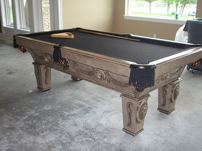 Remodelaholic Updated Pool Table Makeover - Pool table resurfacing