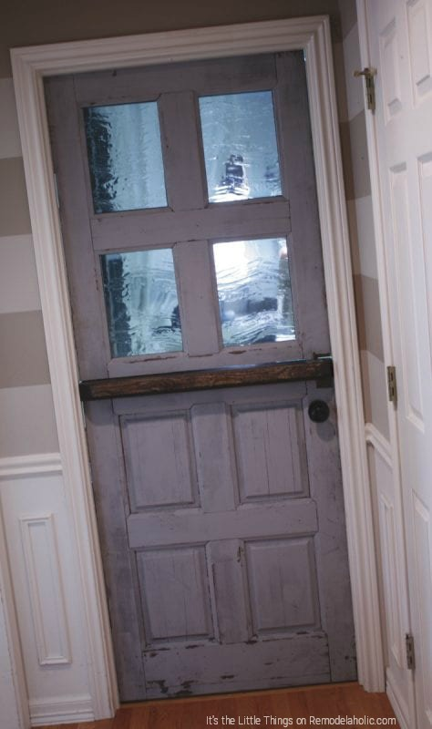Thrifted Door Remodel Tutorial By Its The Little Things Featured On @Remodelaholic 474x800