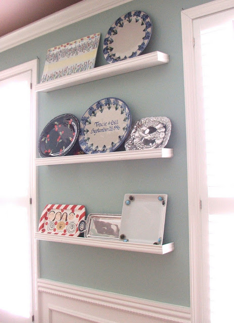 platter wall shelving