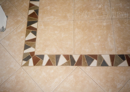 Remodelaholic New Tile Flooring In Dining Room