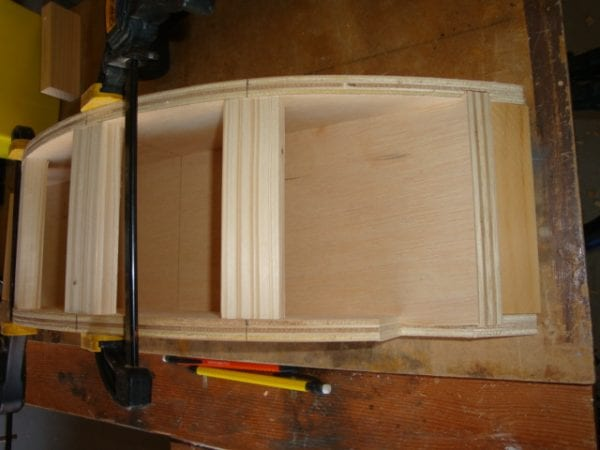 11 Wooden, curved canopy cornice box DIY by DeCarlo Woodworks featured on @Remodelaholic