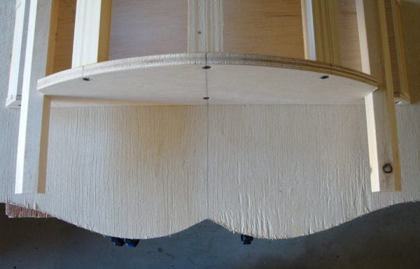 29 DIY Wooden curved canopy top for little girl's room by DeCarlo Woodworks featured on @Remodelaholic