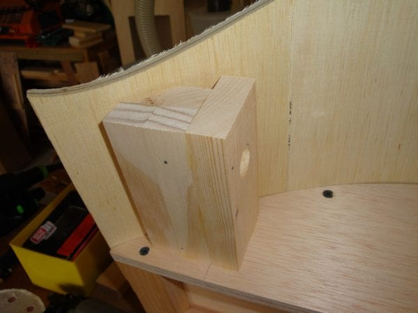 37 Curved Canopy Cornice Box with complete tutorial by DeCarlo Woodworks featured on @Remodelaholic
