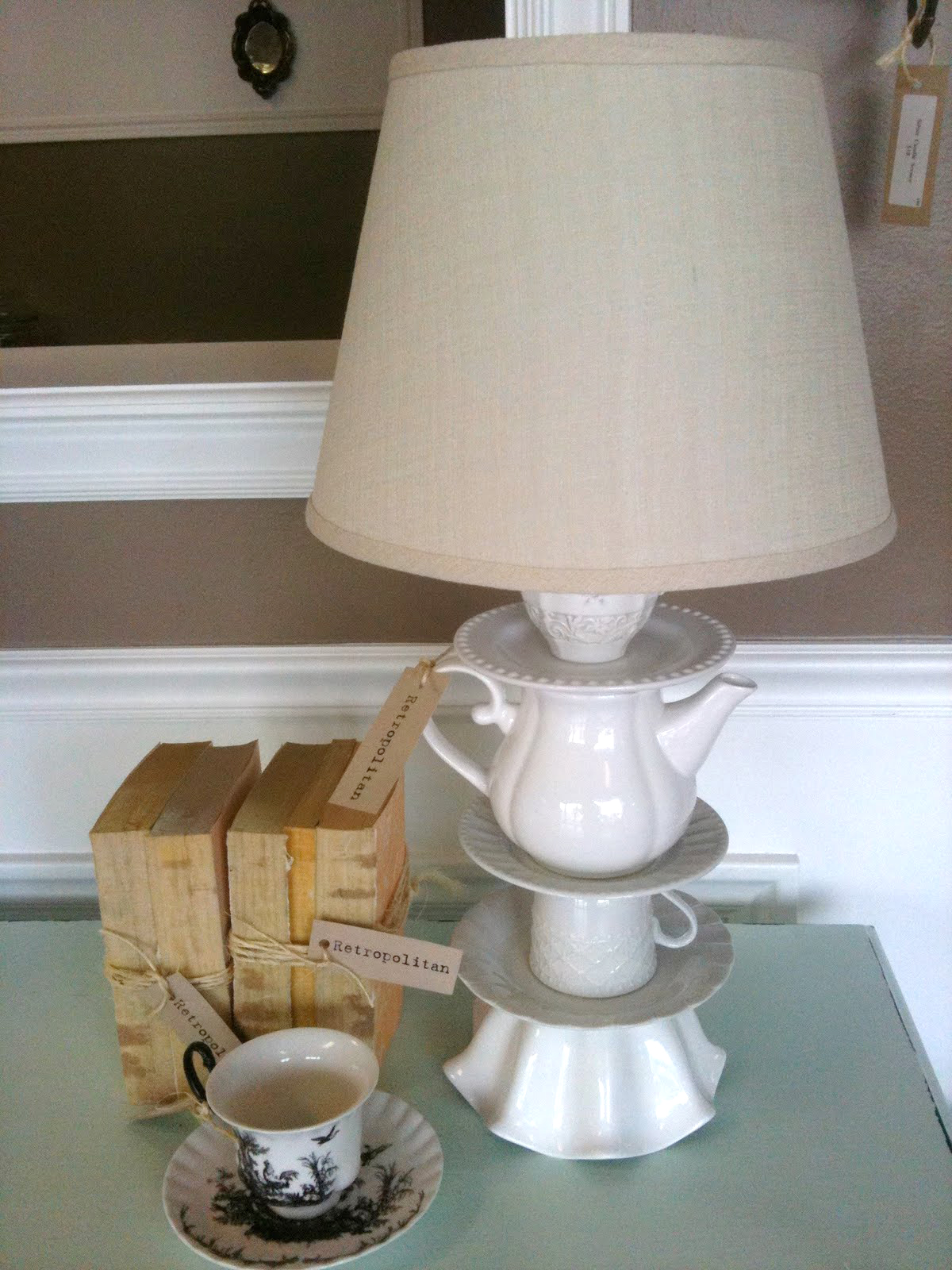 DIY Dish Lamp Tutorial