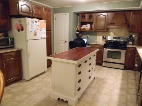 Diy Kitchen Island From Dresser remodelaholic | from dresser to kitchen island
