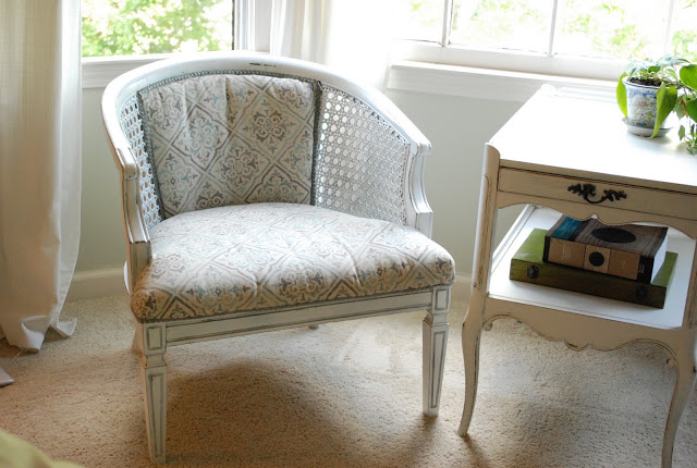 reupholstered side chair