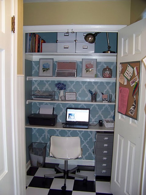Remodelaholic Computer Closet Office Remodel