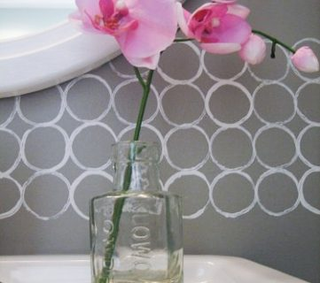 Free DIY Modern Painted Border Idea