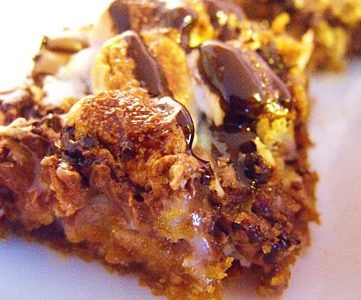 Rocky Road Bars and a Recipe Link Party