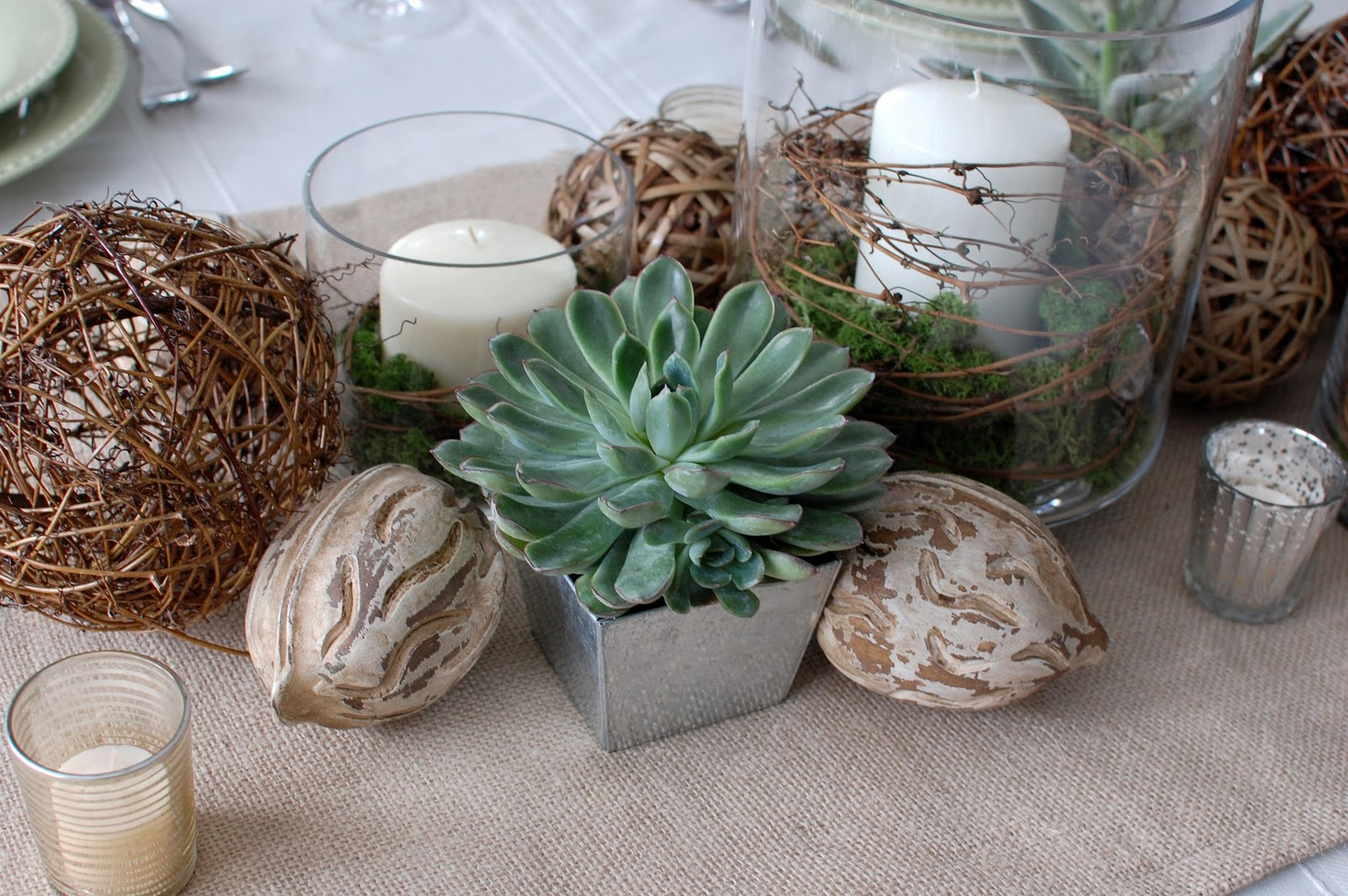 Remodelaholic Beautiful Natural Tablescape By 33 Shades