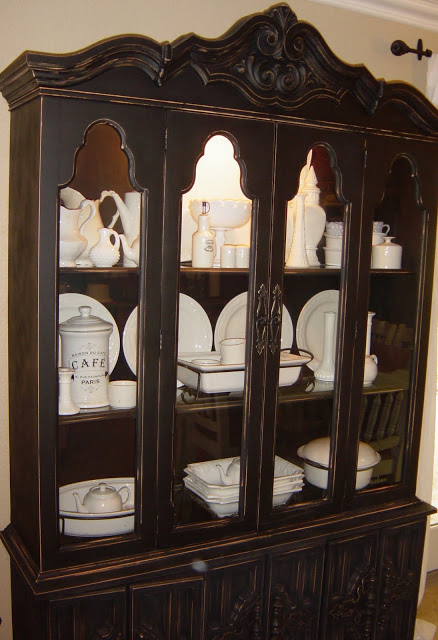 Remodelaholic China Hutch Update With A Darker Rich Look