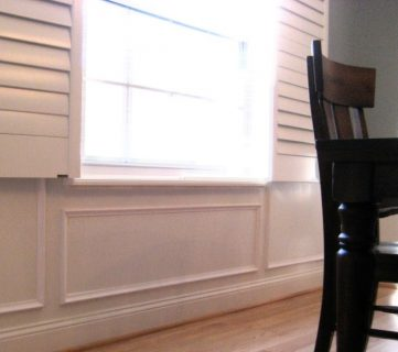 Faux Technique for Wood Panels on Wainscoting