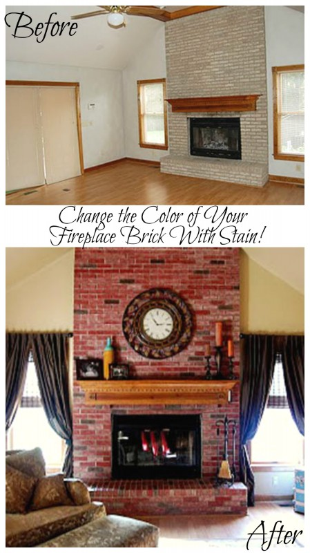 Remodelaholic | Update the Color of your Brick; Stained Brick ...