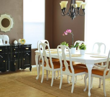 Refinished Dining Room Table and Chair Re-upholstery Tutorial