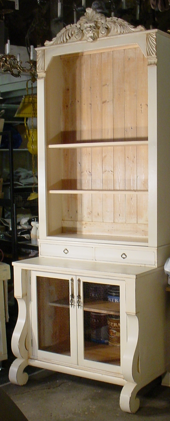 Dresser to Book Case Furniture Remodel (6)