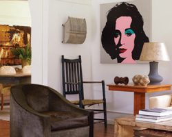 Elizabeth taylor - big art in background I like