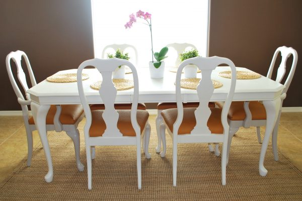 Refinished Dining Room Table and Chair Re-upholstery Tutorial (3)