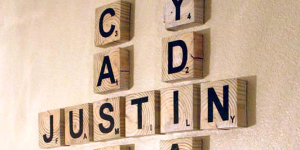 Scrabble Living Large: Family Names Art Project